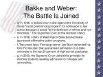 bakke and weber the battle is joined100