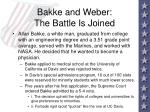 bakke and weber the battle is joined94