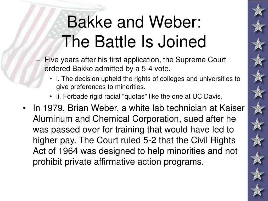 Bakke and Weber: