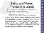bakke and weber the battle is joined95