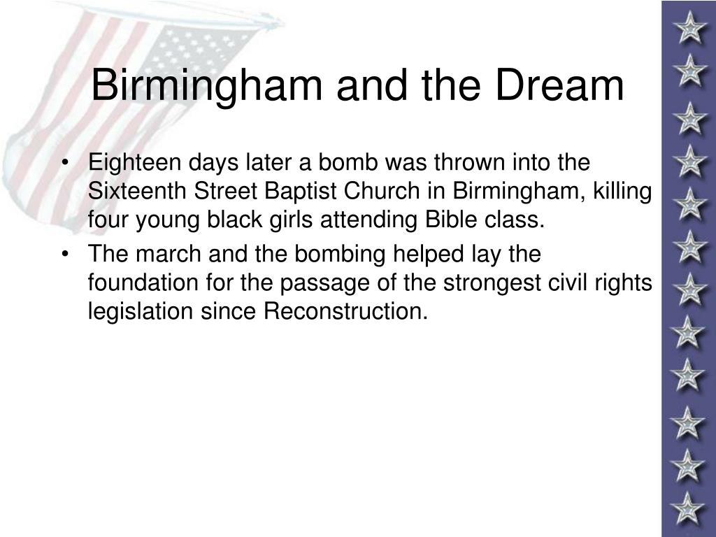 Birmingham and the Dream