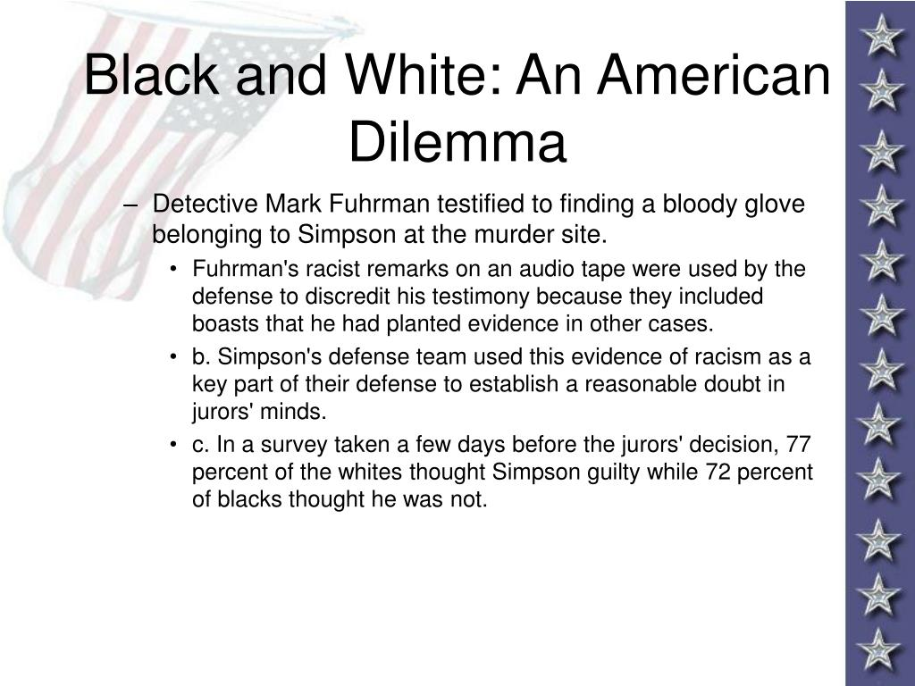 Black and White: An American Dilemma