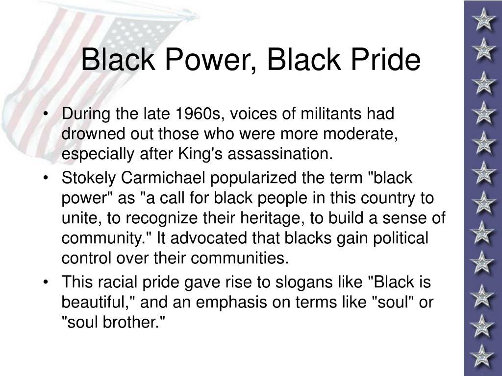 Black Power, Black Pride