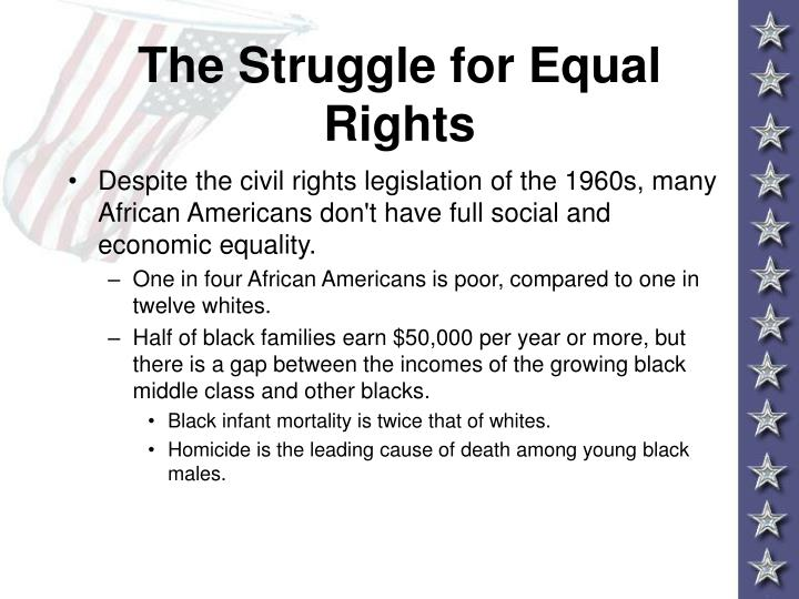 The struggle for equal rights3