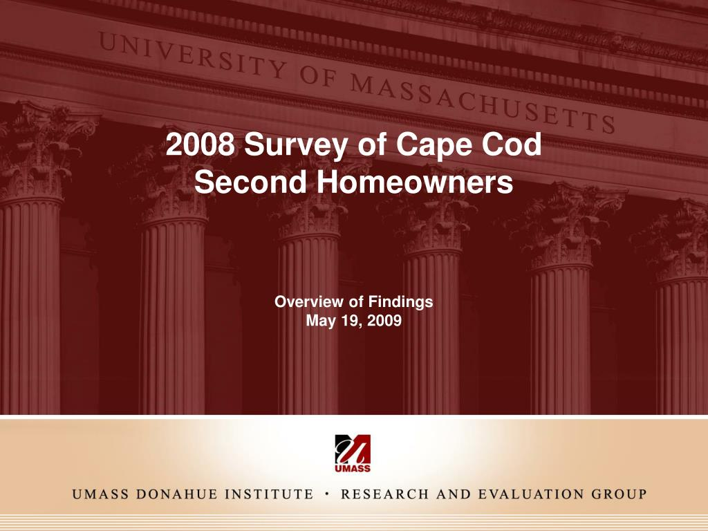 2008 survey of cape cod second homeowners l.