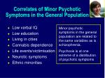correlates of minor psychotic symptoms in the general population