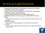 american eagle overview
