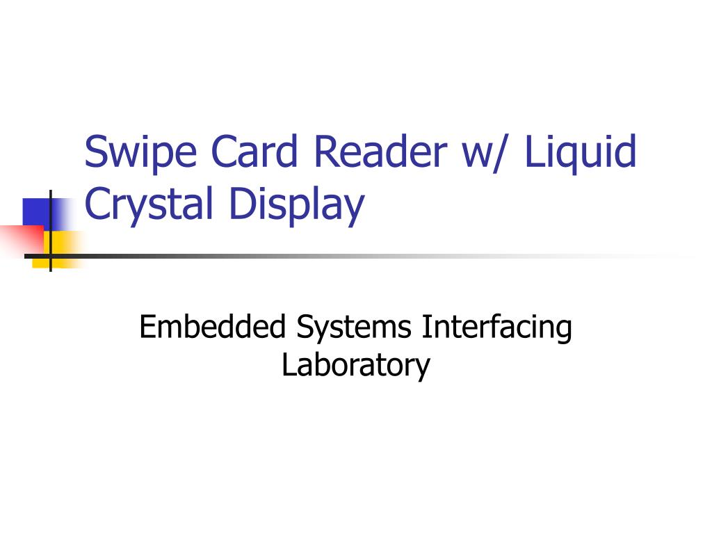 swipe card reader w liquid crystal display l.