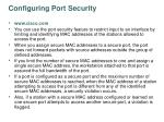 configuring port security27
