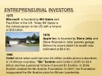 entrepreneurial investors