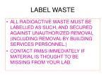 label waste