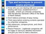 tips and techniques to prevent scams and fraud