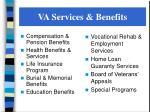 va services benefits