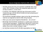 secure integration method sim control