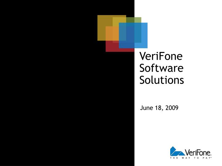 verifone software solutions n.