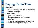 buying radio time
