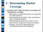 determining market coverage