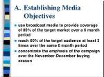 establishing media objectives