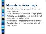 magazines advantages