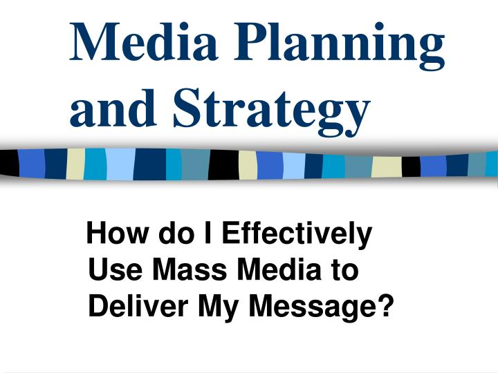 media planning and strategy n.