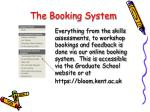 the booking system
