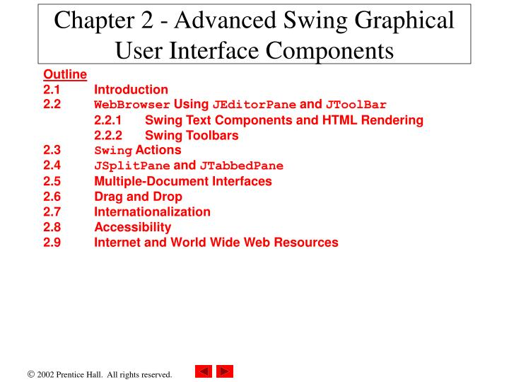 chapter 2 advanced swing graphical user interface components n.