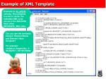 example of xml template