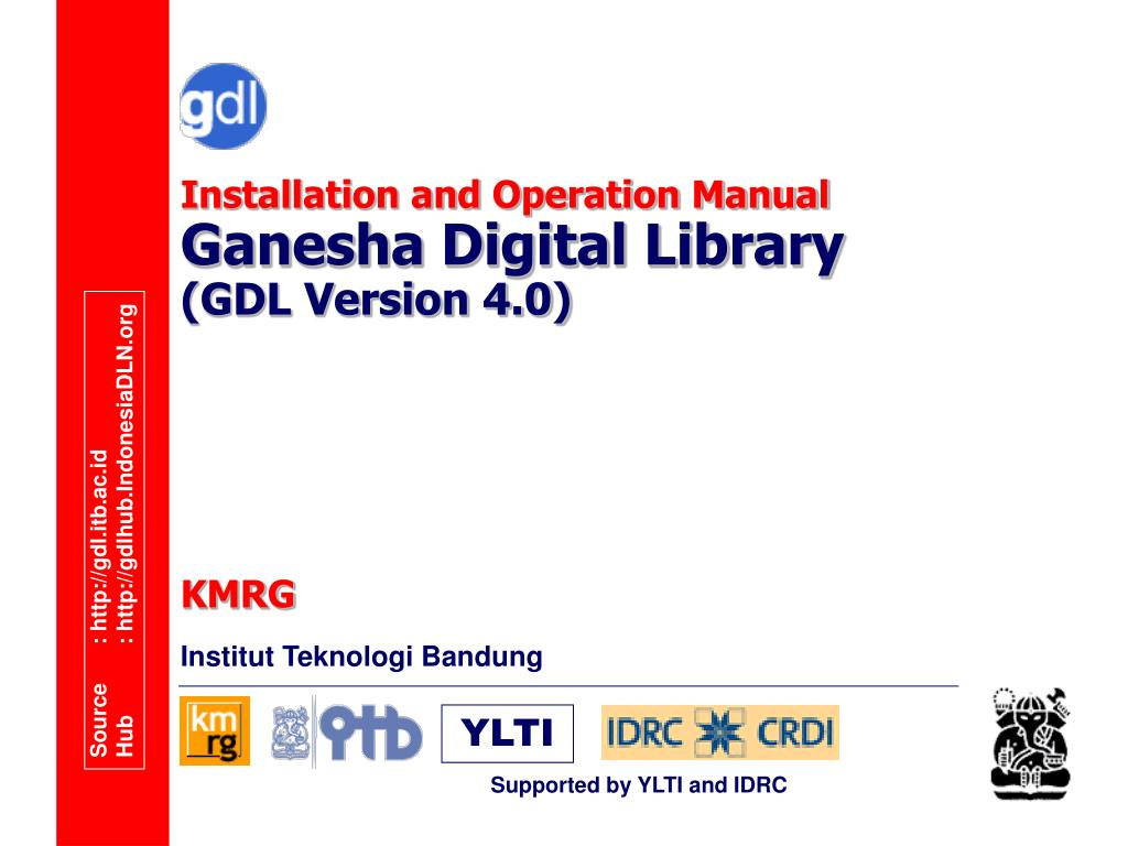 installation and operation manual ganesha digital library gdl version 4 0 l.