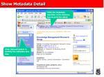 show metadata detail