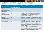 catalyst switch layer 3 interfaces7