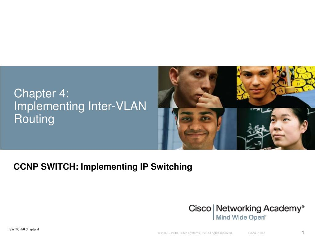 chapter 4 implementing inter vlan routing l.