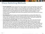 cisco switching methods