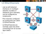 l3 etherchannels