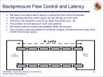 backpressure flow control and latency