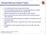 shared memory switch fabric