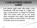 2 low interest credit cards