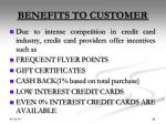 benefits to customer