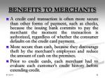benefits to merchants
