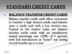 standard credit cards