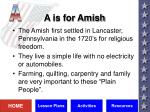 a is for amish