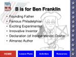 b is for ben franklin