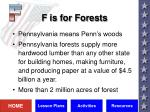 f is for forests