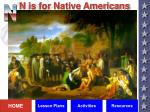 n is for native americans