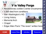 v is valley forge