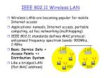ieee 802 11 wireless lan
