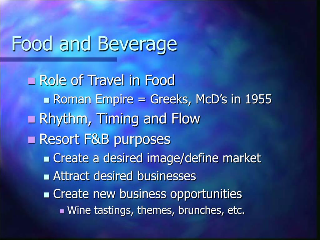 food and beverage l.