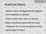 autoexec macro