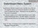 switchboard menu system