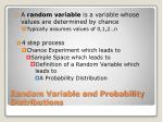 random variable and probability distributions
