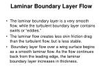 laminar boundary layer flow